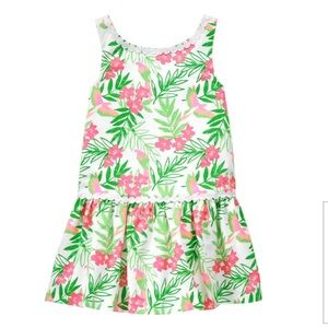 Janie and Jack tropical floral print dress 6-12 m